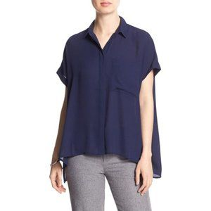NWT Banana Republic Button Side Dolman Blouse XL